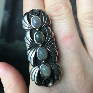 Evil Pawn Jewelry Sierra Steel Ring Labradorite